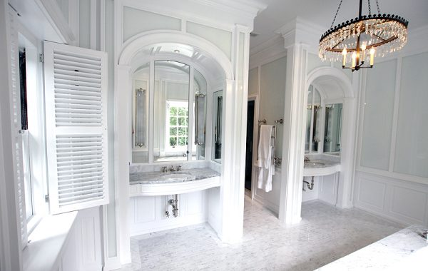painted vanities and paneling