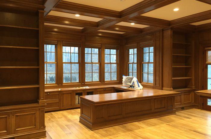 Desk and Bookcases