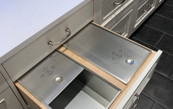 Custom double bread drawer