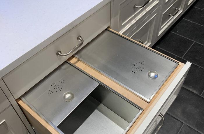Custom double bread drawer